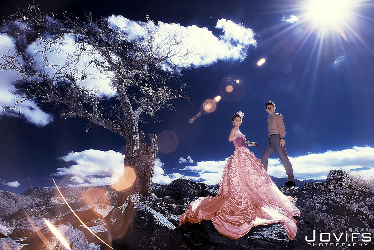 Jovifs 喬飛攝影, PREWEDDING, 唯美婚紗, 特殊風格婚紗, 自主婚紗, 南投婚紗攝影,高雄自助婚紗,白紗造型,粉色禮服造型,清靜農場, 南投唯美紅外線IR婚紗,日月潭,